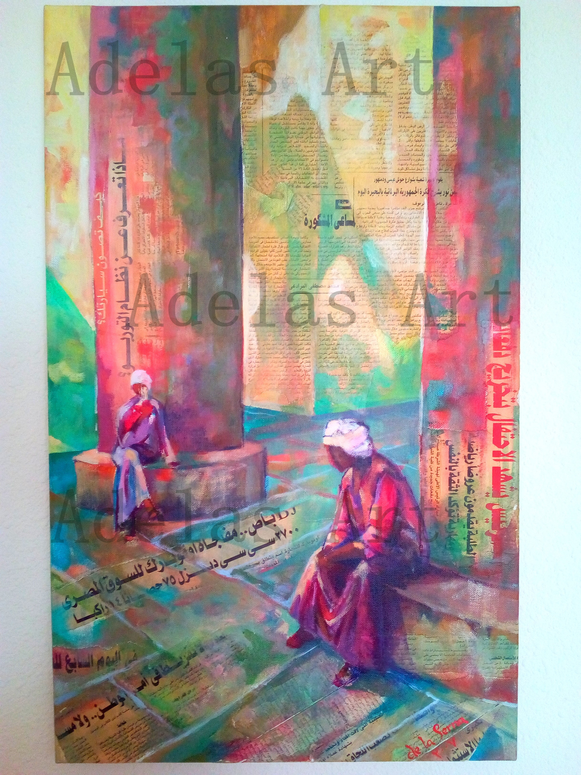 """In the shadow of the nile"" by Adelas Art - front view"