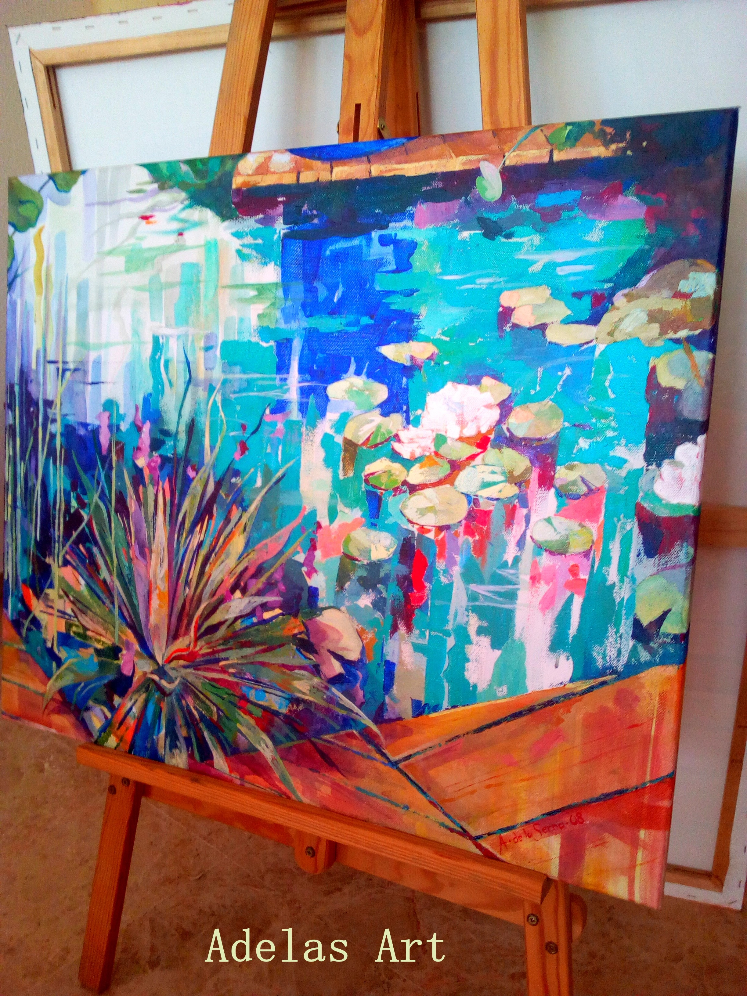 """Nymphaea alba II"" by Adelas Art - front view"
