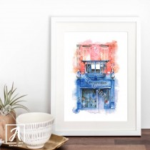 Front View - Books Upstairs Art Print