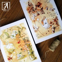 Gift Set for Coffee and Tea lovers by Adelas Art