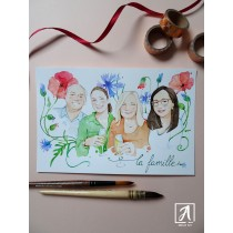 """Spring  Family Portrait"" by Adelas Art - front view"