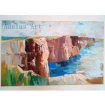 """Cliffs of Moher"" by Adelas Art - front view"