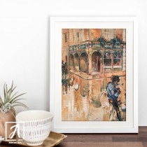Original Artwork of Temple Bar created in Dublin, Ireland - Adelas Art