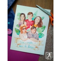 """""""Family Portrait"""" by Adelas Art - front view"""