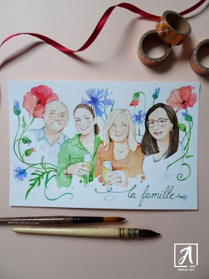"""""""Spring  Family Portrait"""" by Adelas Art - front view"""