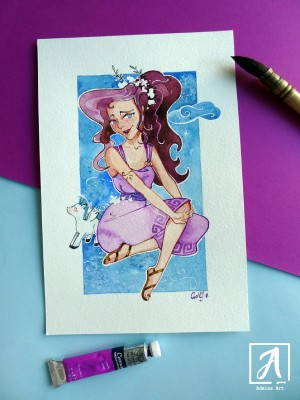 """Megara"" by Adelas Art - front view"