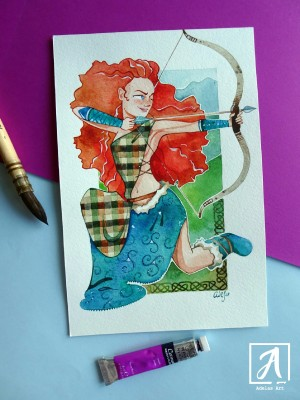 """Merida"" by Adelas Art - front view"