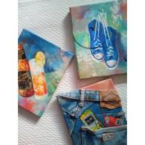 """Trio"" by Adelas Art - set of 3"