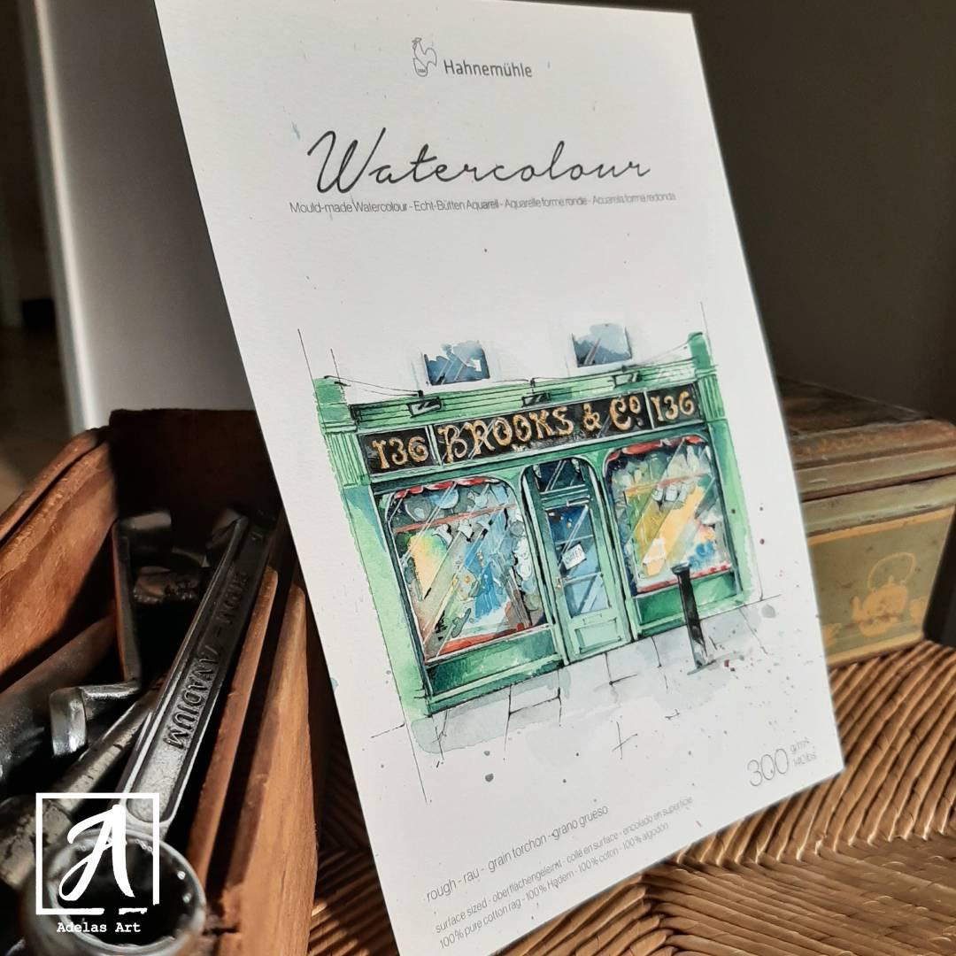 Hahnemühle Rough Britannia Watercolour reviewed by Adelas Art